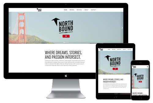 Northbound Film's Homepage Design