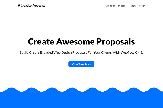 Web Design Proposal Generator Webflow – Web Design Proposal Template