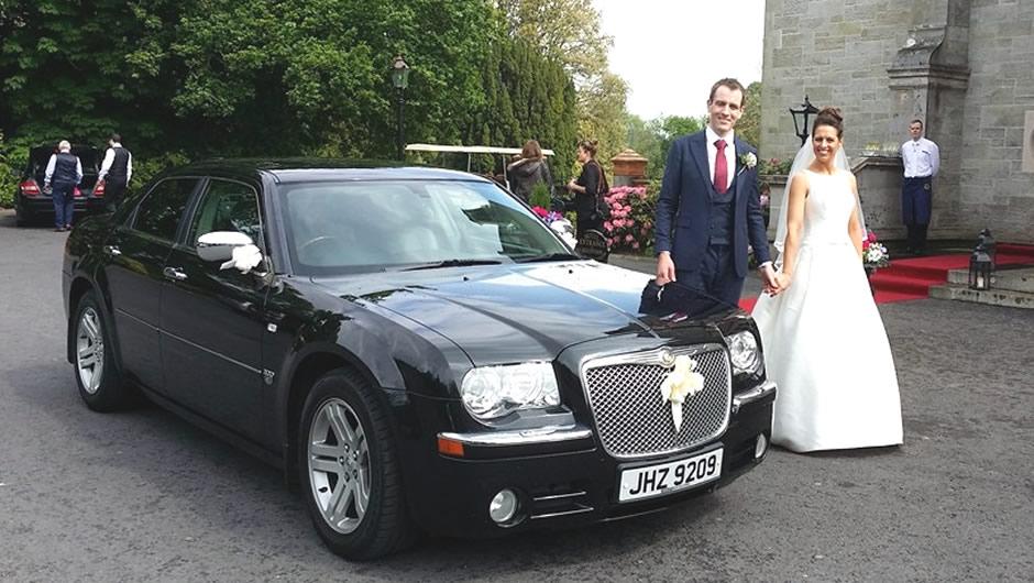 Chrysler 300 wedding limo