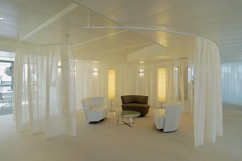 cubicle shower tracks sunline curtains and blinds ltd. Black Bedroom Furniture Sets. Home Design Ideas