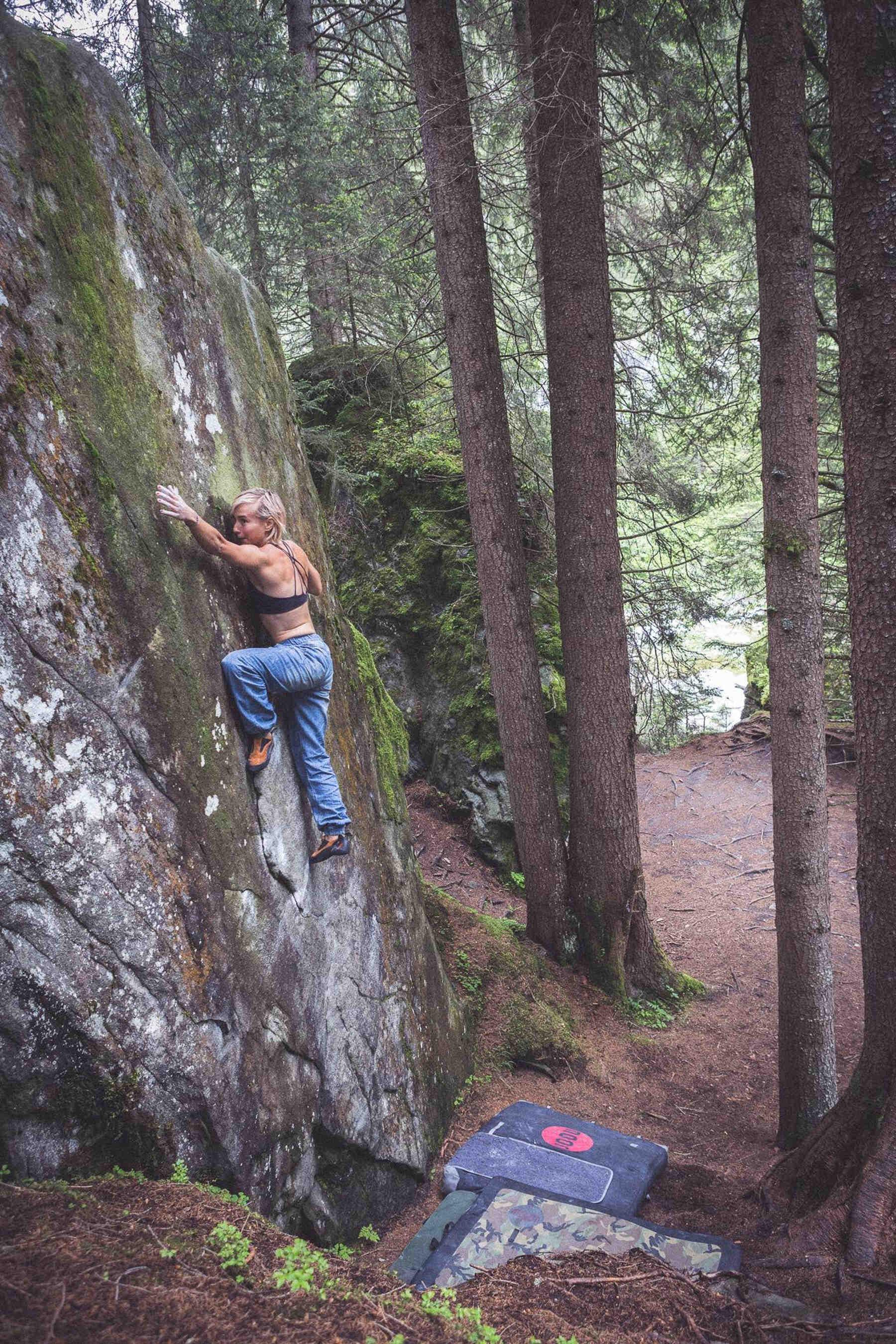 Zofia Reych, FrictionLabs rock climbing chalk pro athlete, Magic Wood, Chur, Switzerland
