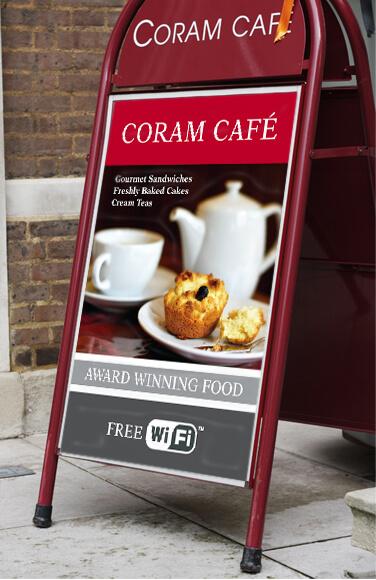 Coram Cafe  pavement board