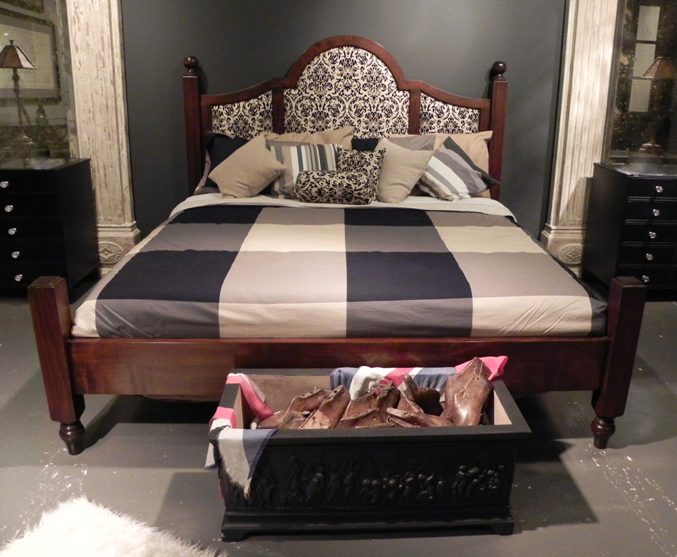 Mid Cherry King Size Poster Bed