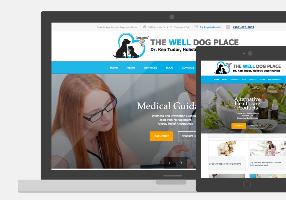 The Well Dog Place Web Design Thumbnail