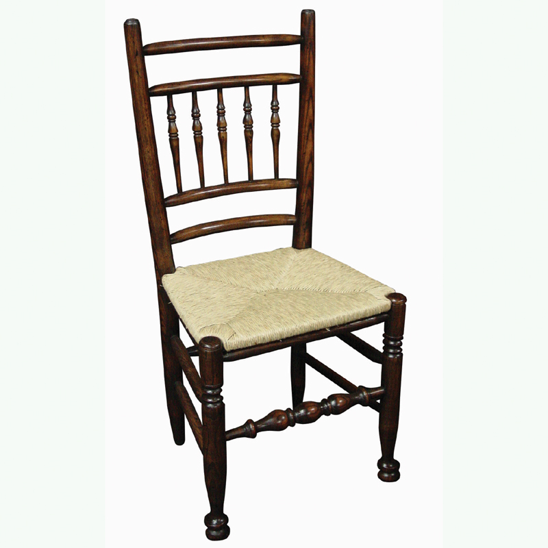 English west midlands spindle back side chair