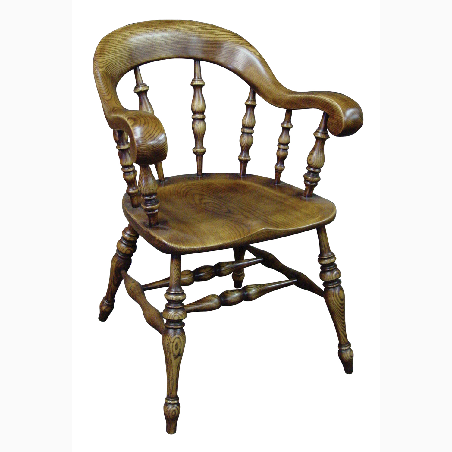 Oak Chairs With Arms ~ Antique oak begere bow arm chair