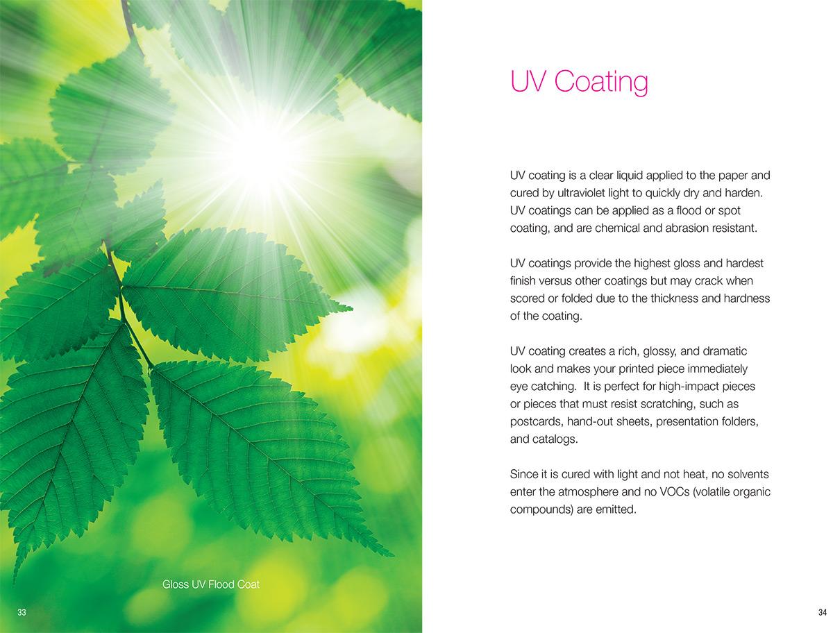Sample Spread From Coatings Brochure