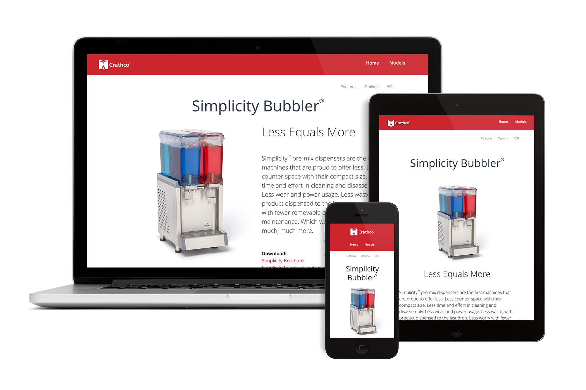 Responsive Website with Devices