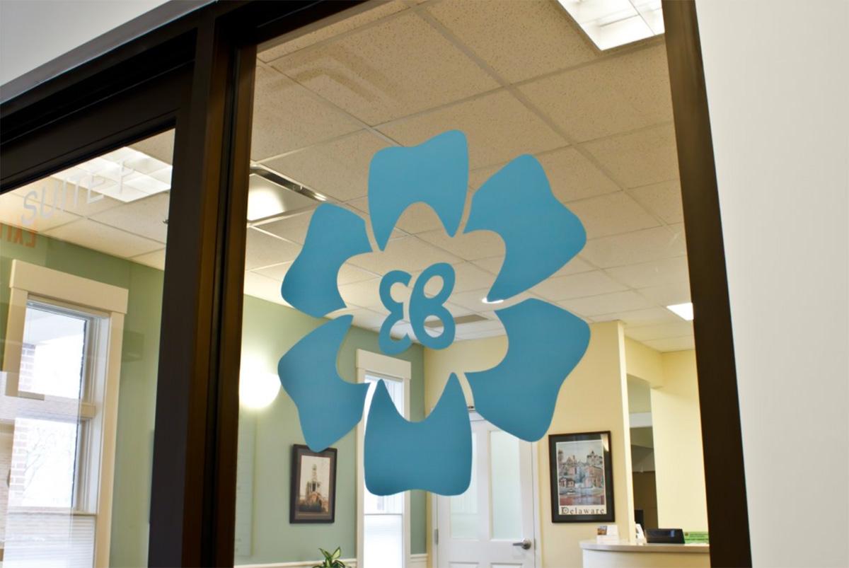 Eric Batterton Logo on Office Window
