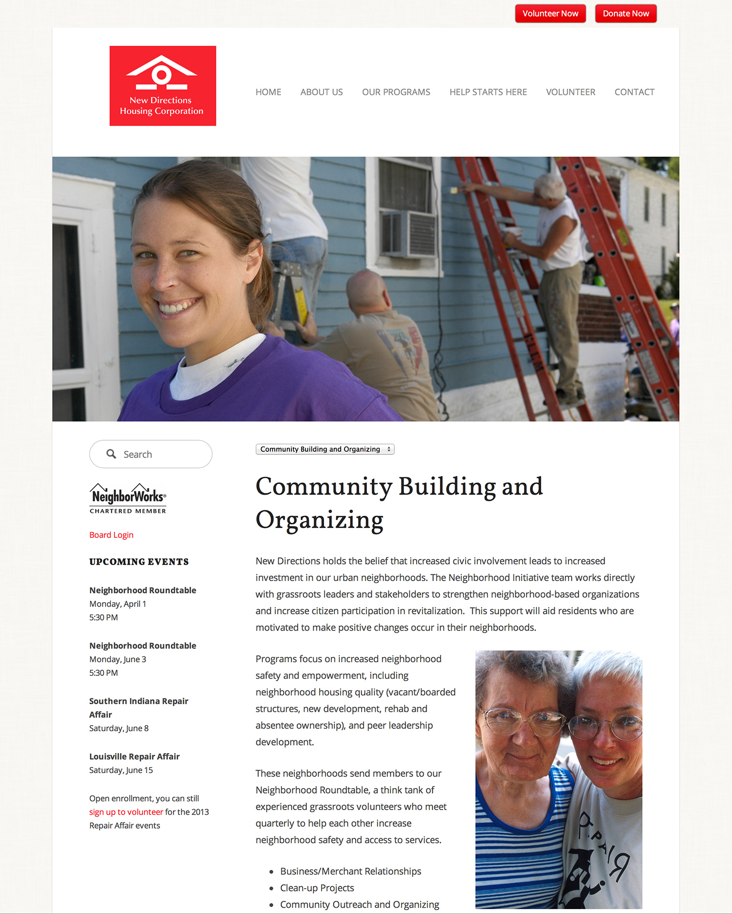 New Directions Housing Corporation Website Preview