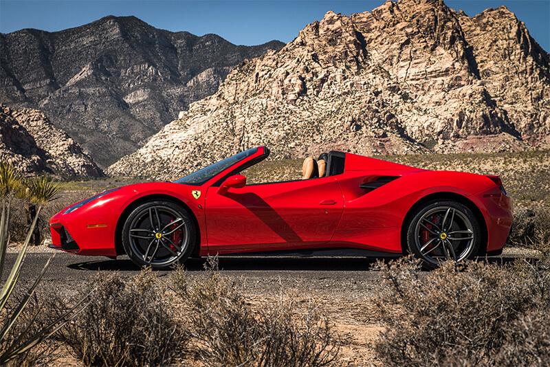 rent a 2017 ferrari 488 convertible red in las vegas starting at 749 convertible 3 9l v8. Black Bedroom Furniture Sets. Home Design Ideas