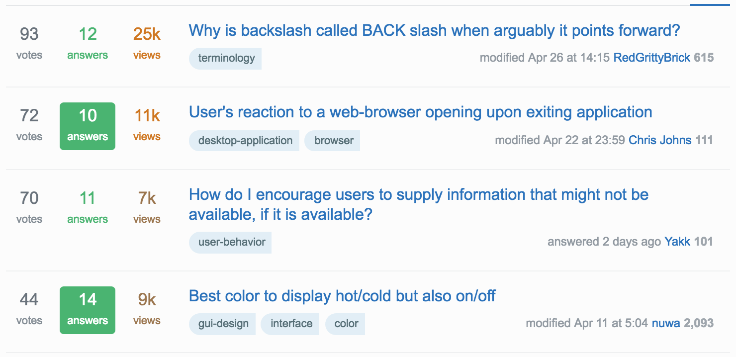 Stack Exchange User Experience
