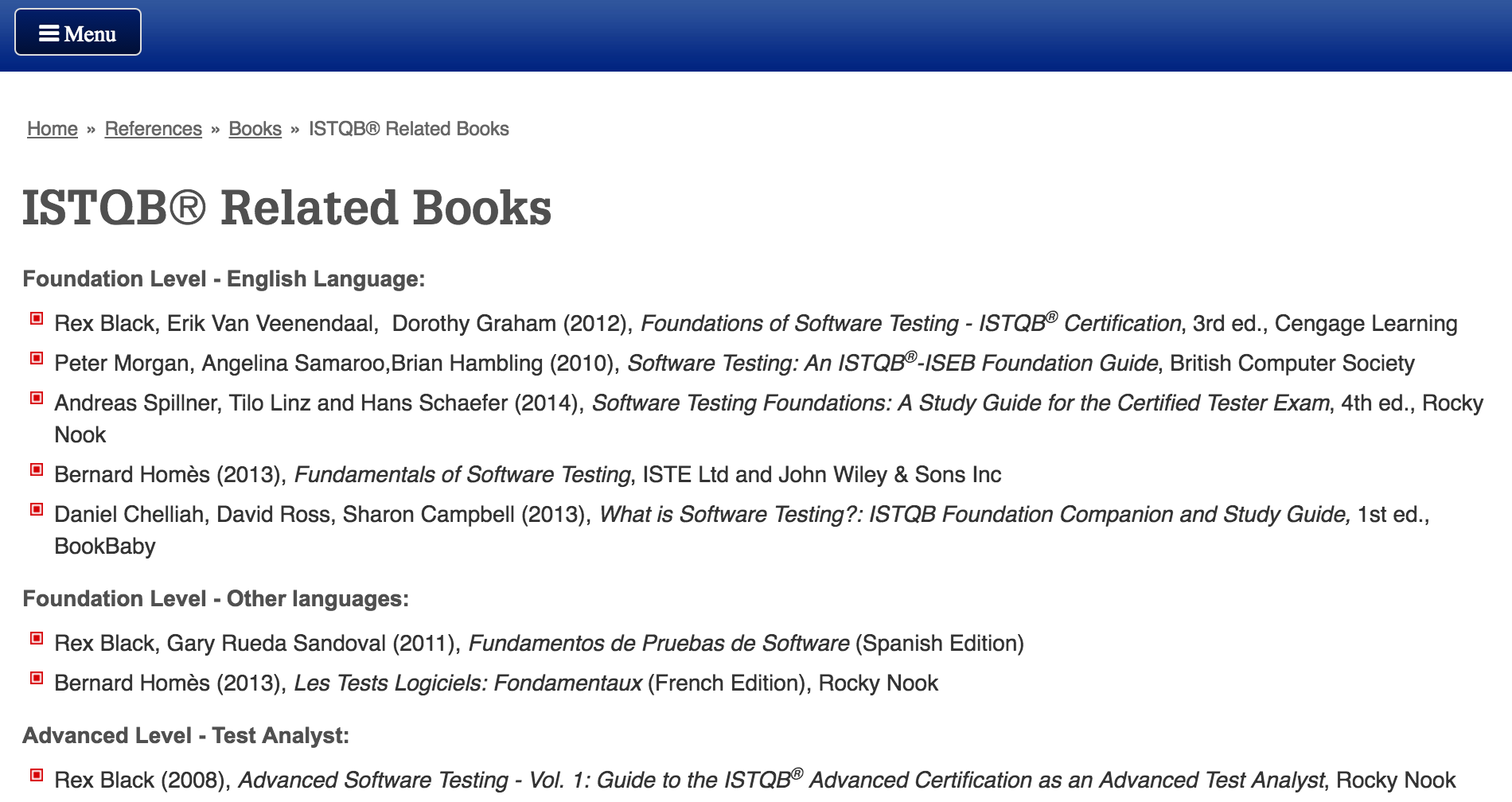 ISTQB Related Books