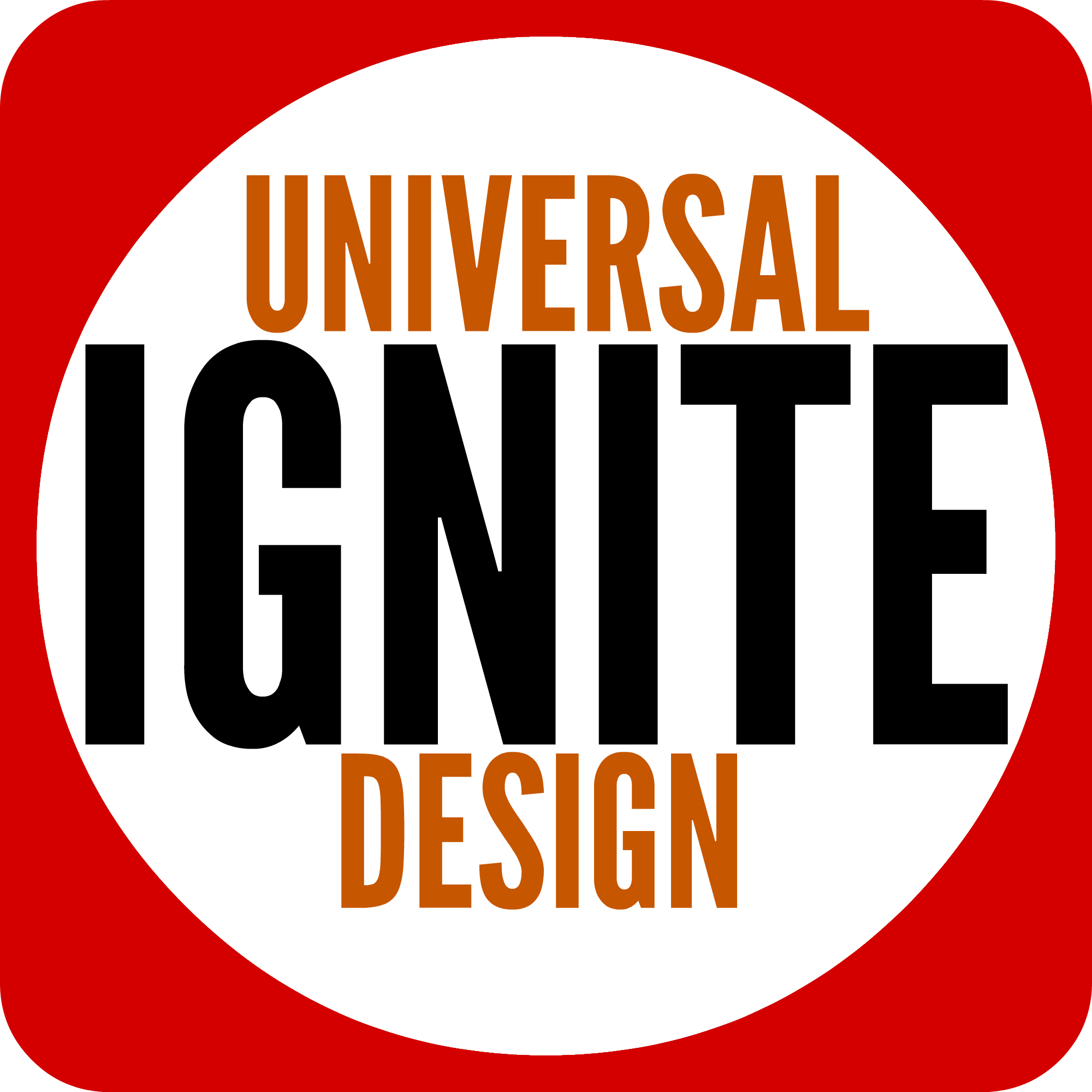 Graphic icon for the Universal Design Ignite Talks