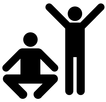 Graphic icon for exercise