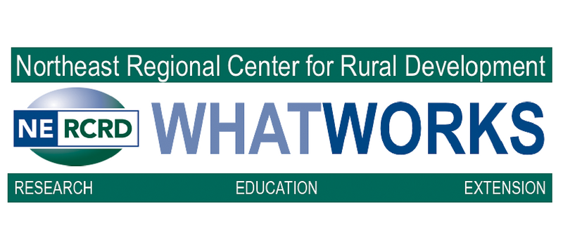 Northeast Regional Center for Rural Development is a sponsor. Meet  researchers and extension pros!