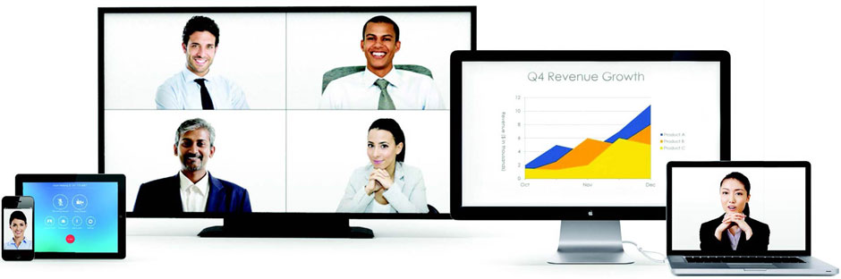 Zoom devices desktop monitor, laptop, tablet, smartphone and TV screen.