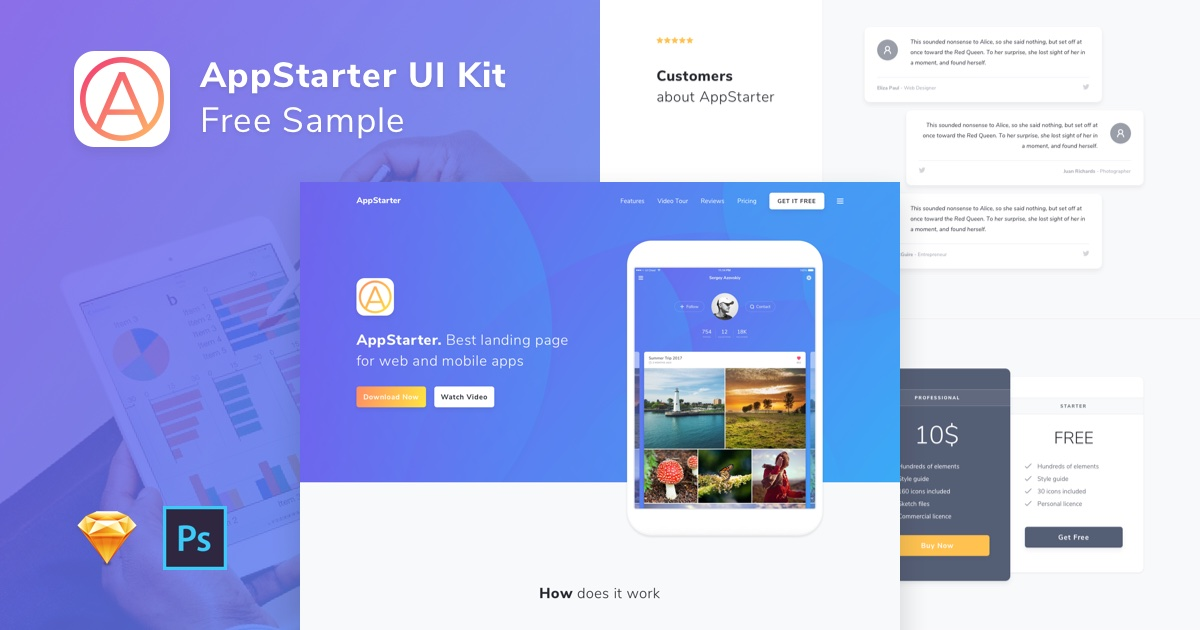 appstarter ui kit sample