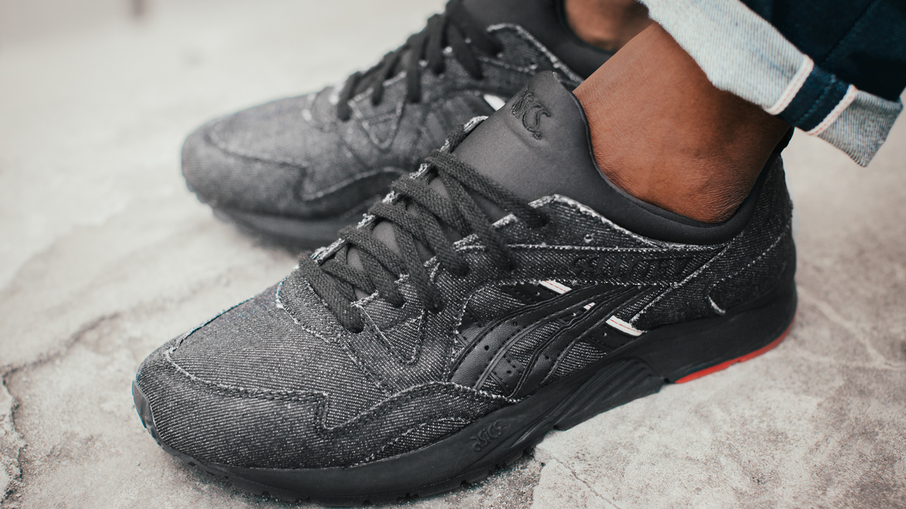 The Gel-Lyte III features raw denim counterbalanced by selvedge denim  stripes (edge of a fabric as it comes from the loom) with a stitch of red  plus a ... 0813dd5a6fb4