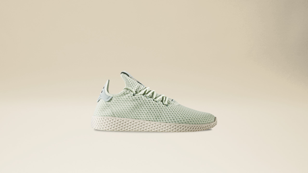The accented tongue and heel is reminiscent of the adidas tennis classic  while exuding the lighthearted Pharrell Williams ... 195cc4508d7
