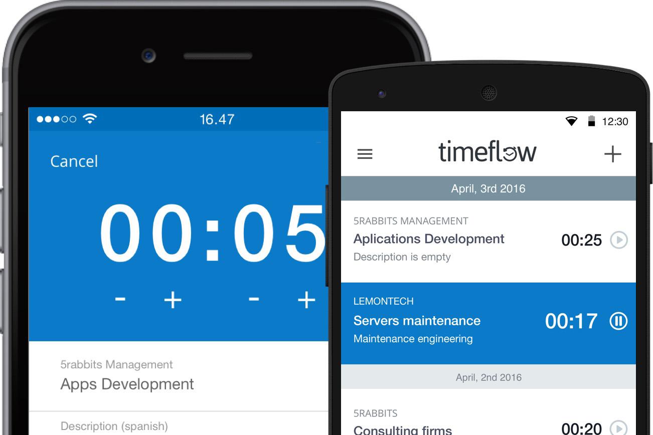 Timeflow time tracking app