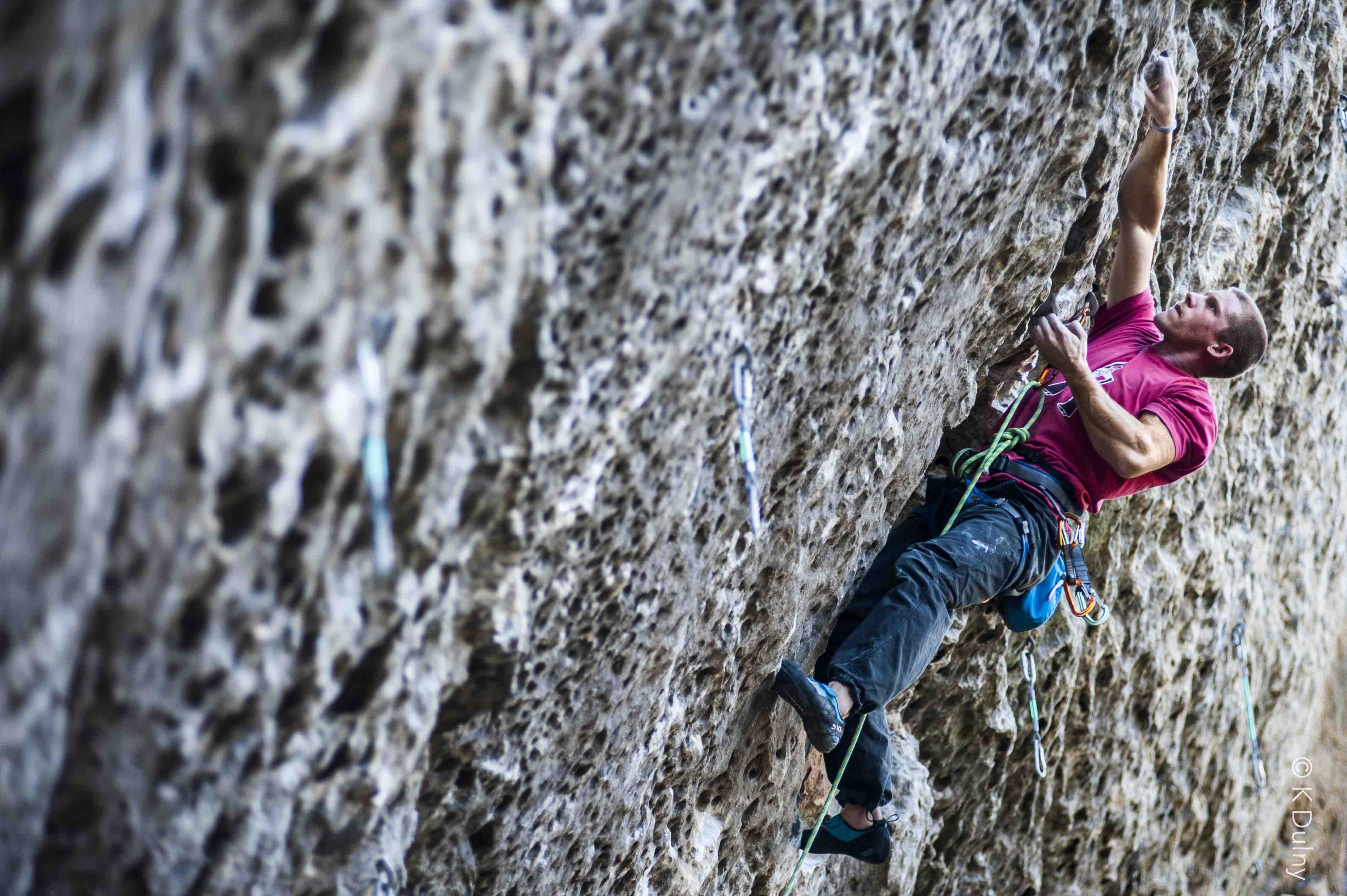Michael Hauck Rock Climbing Outside