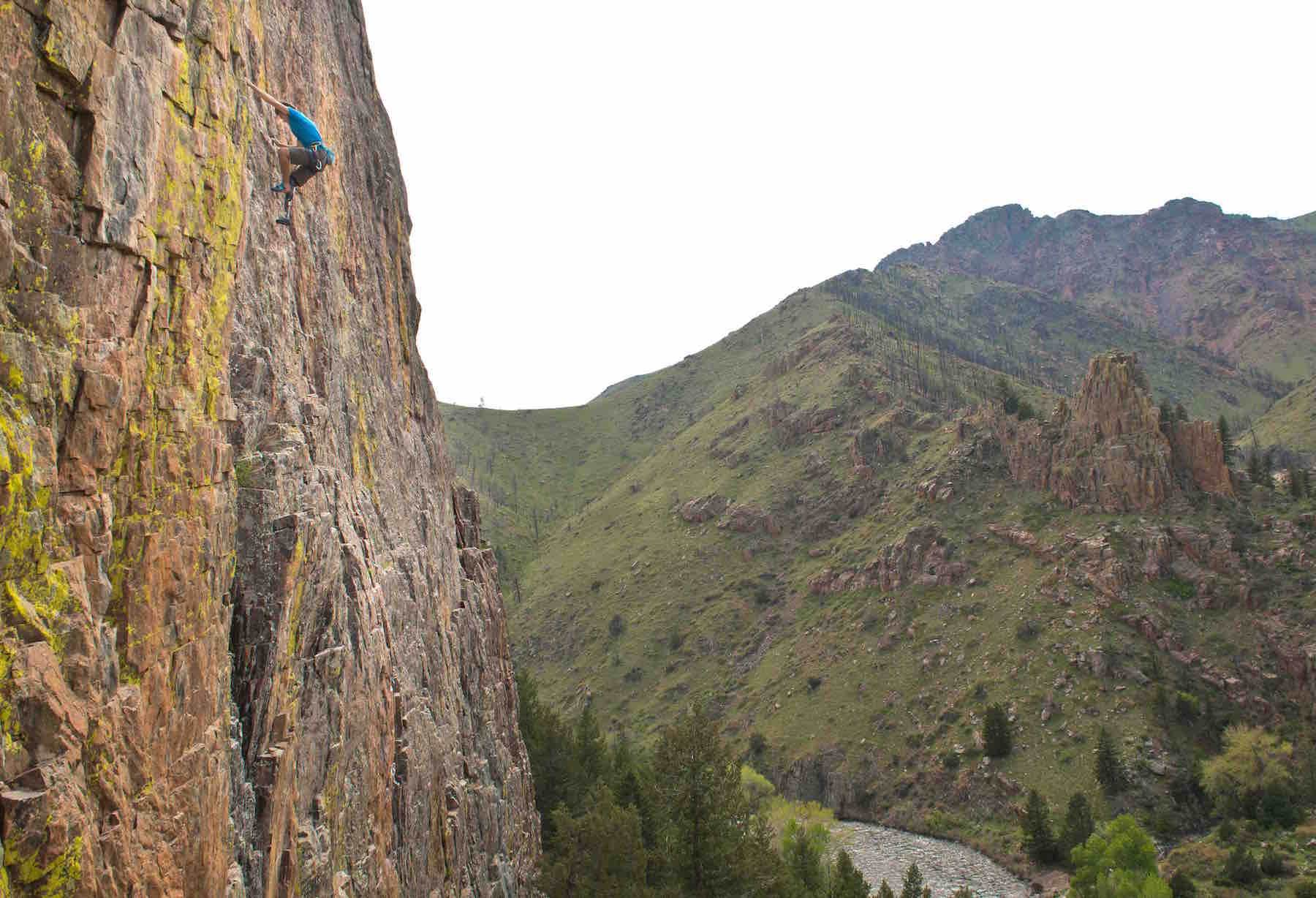 Craig DeMartino climbing