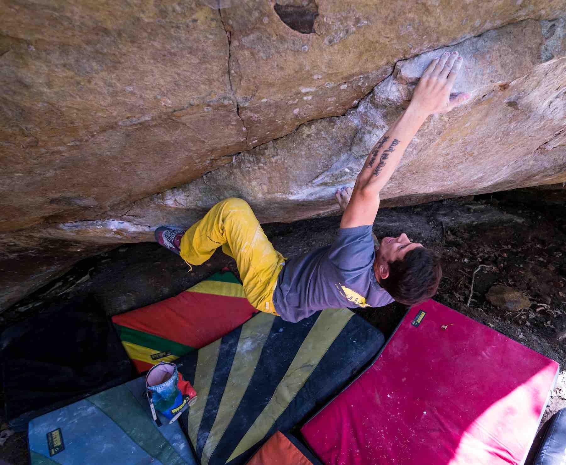 Justin Salas Rock Climbing