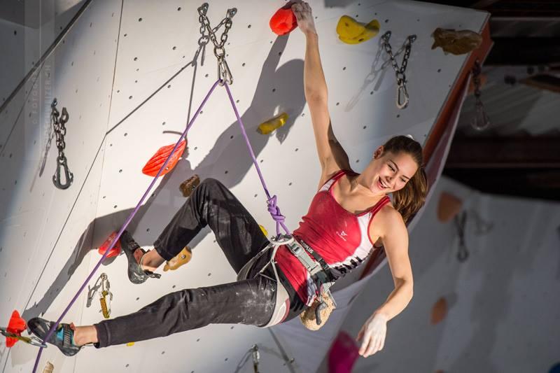 Andrea Kümin Rock Climbing