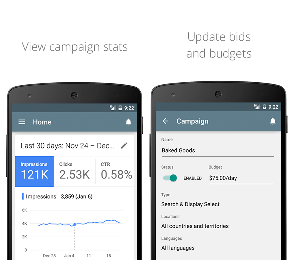 print screen google adwords app