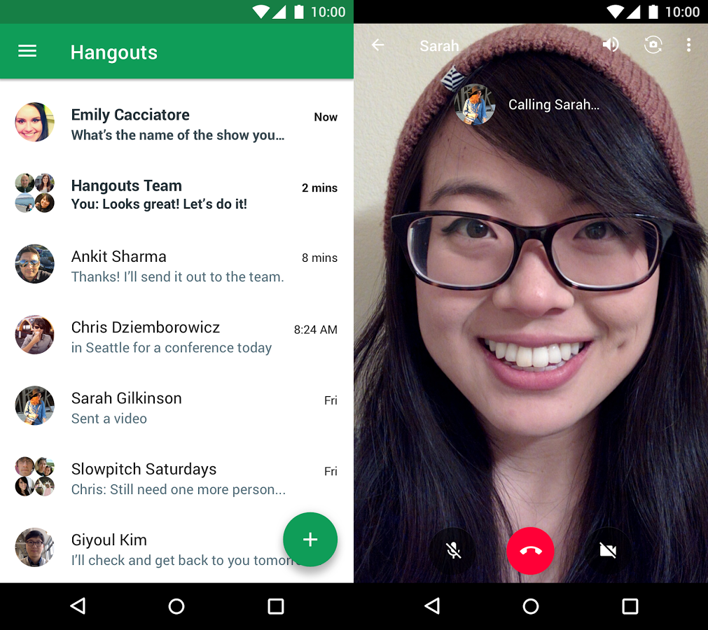 hangouts app print screen
