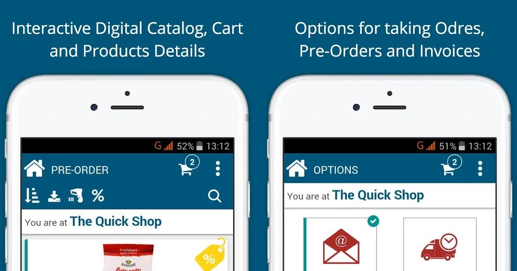 valomnia sales app print screen
