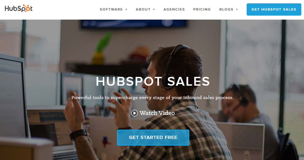 hubspot sales website print screen