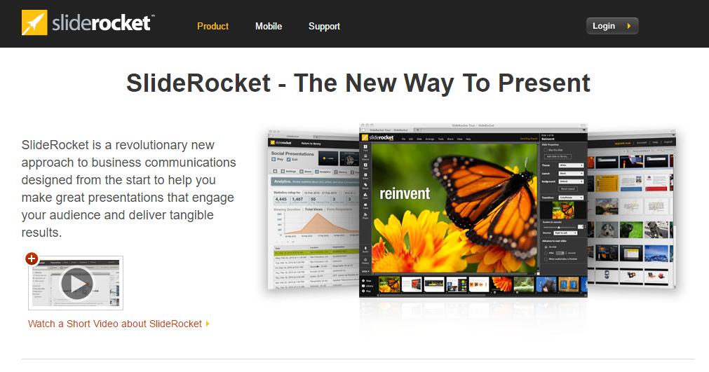 sliderocket website print screen