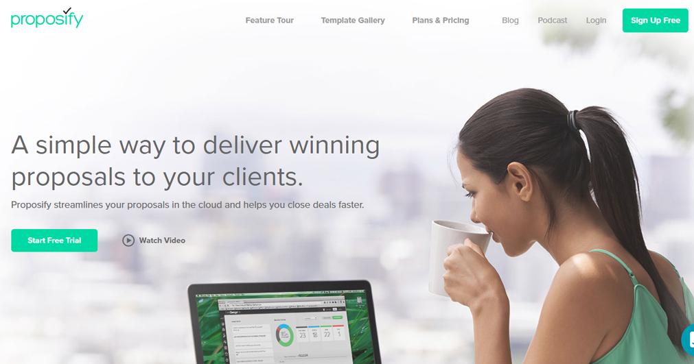 proposify website print screen