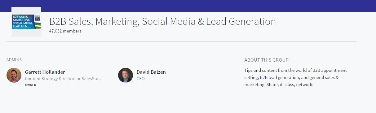 b2b sales marketing linkedin