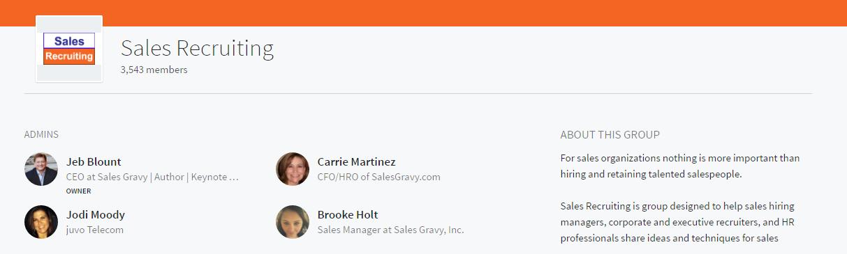 sales recruiting linkedin