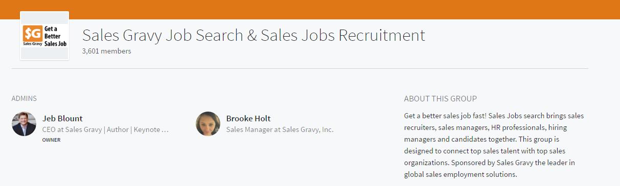 sales gravy job search linkedin