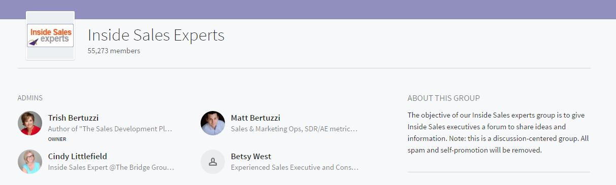 inside sales experts