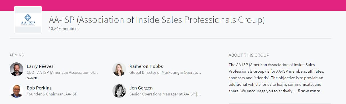 association of inside sales professionals linkedin