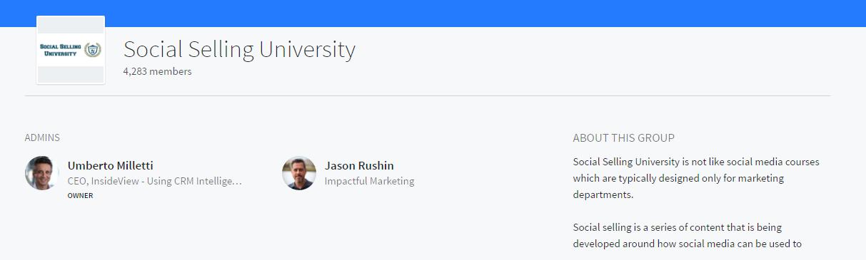 social selling university linkedin