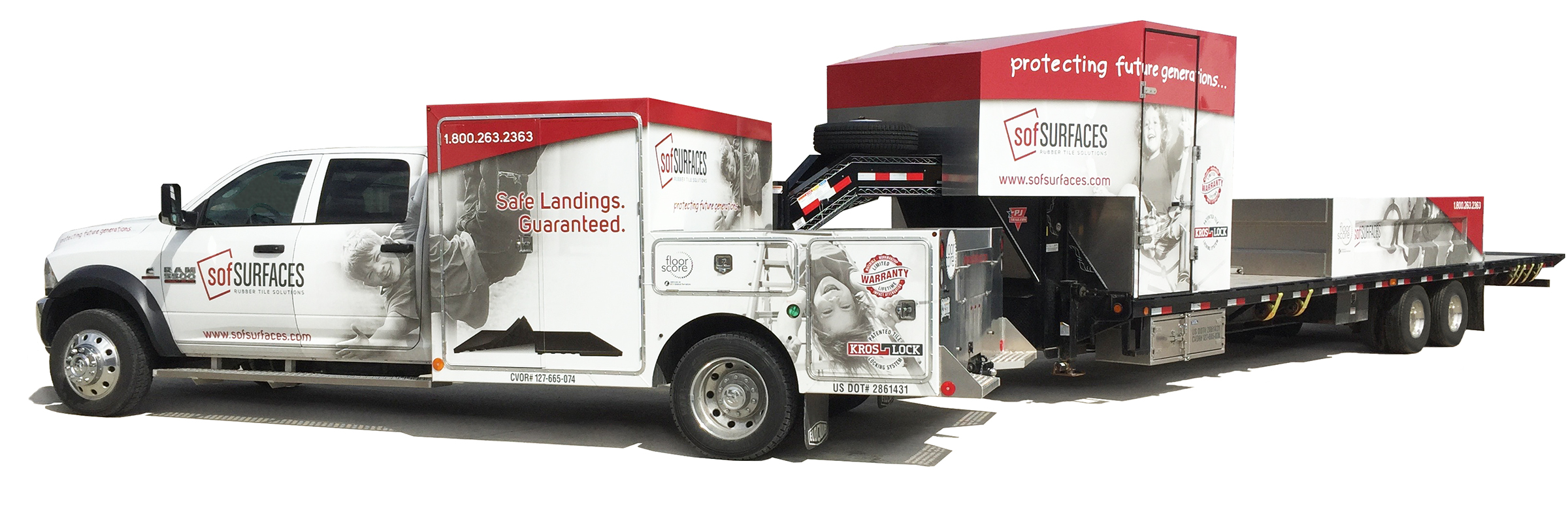 sofSURFACES Install truck and trailer