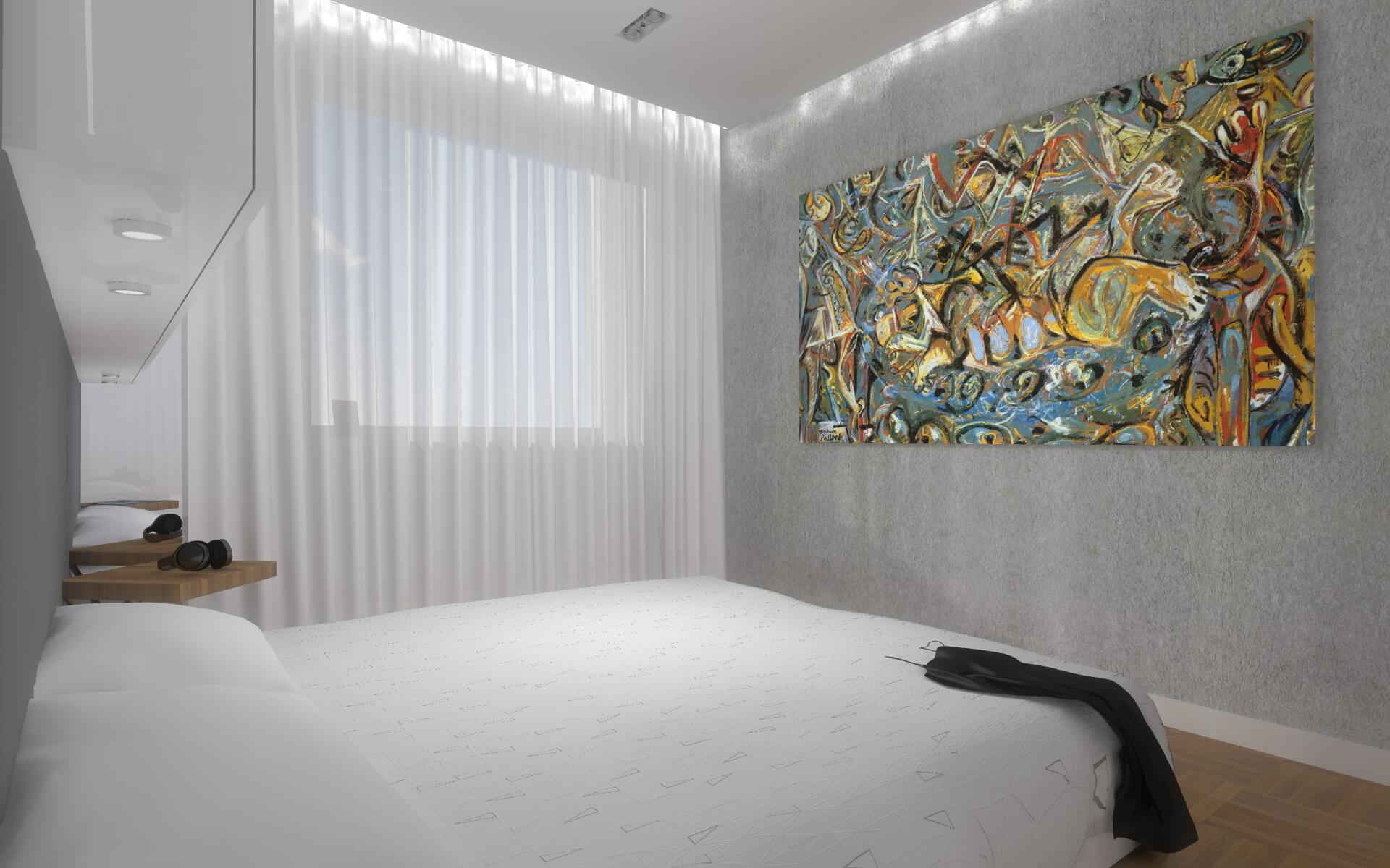 Aranżancja wnętrz minimalistycznego apartamentu 92m2 Bydgoszcz