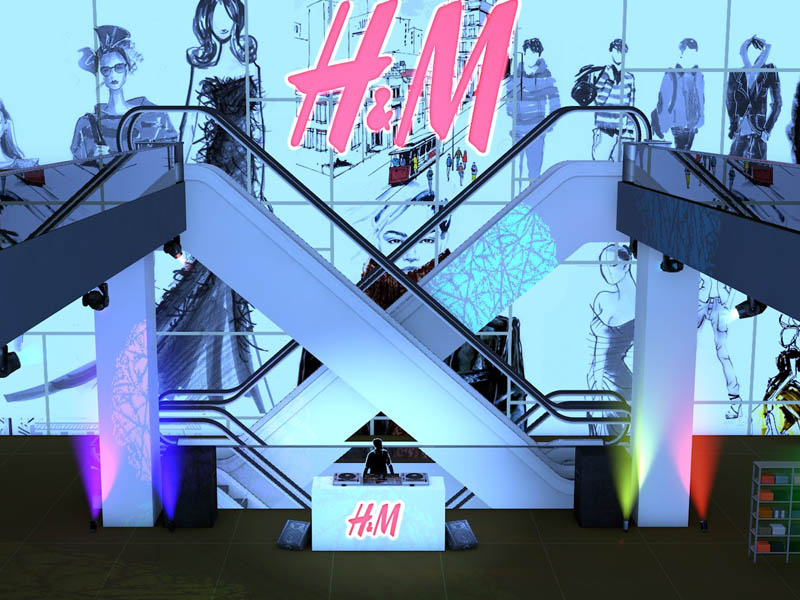H&M Design Space Event - Fly Through