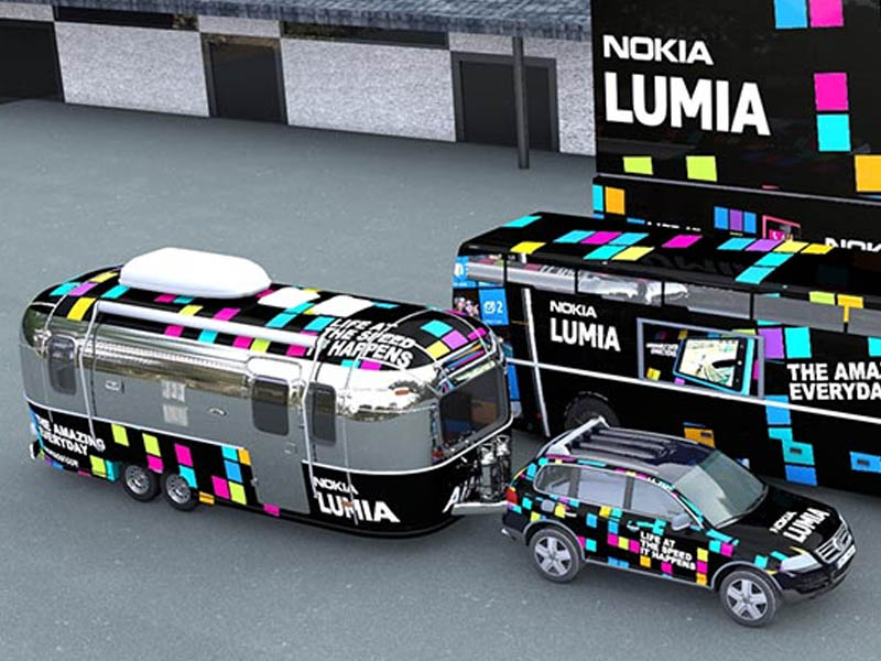 Nokia Lumia Re-launch experience experiential design