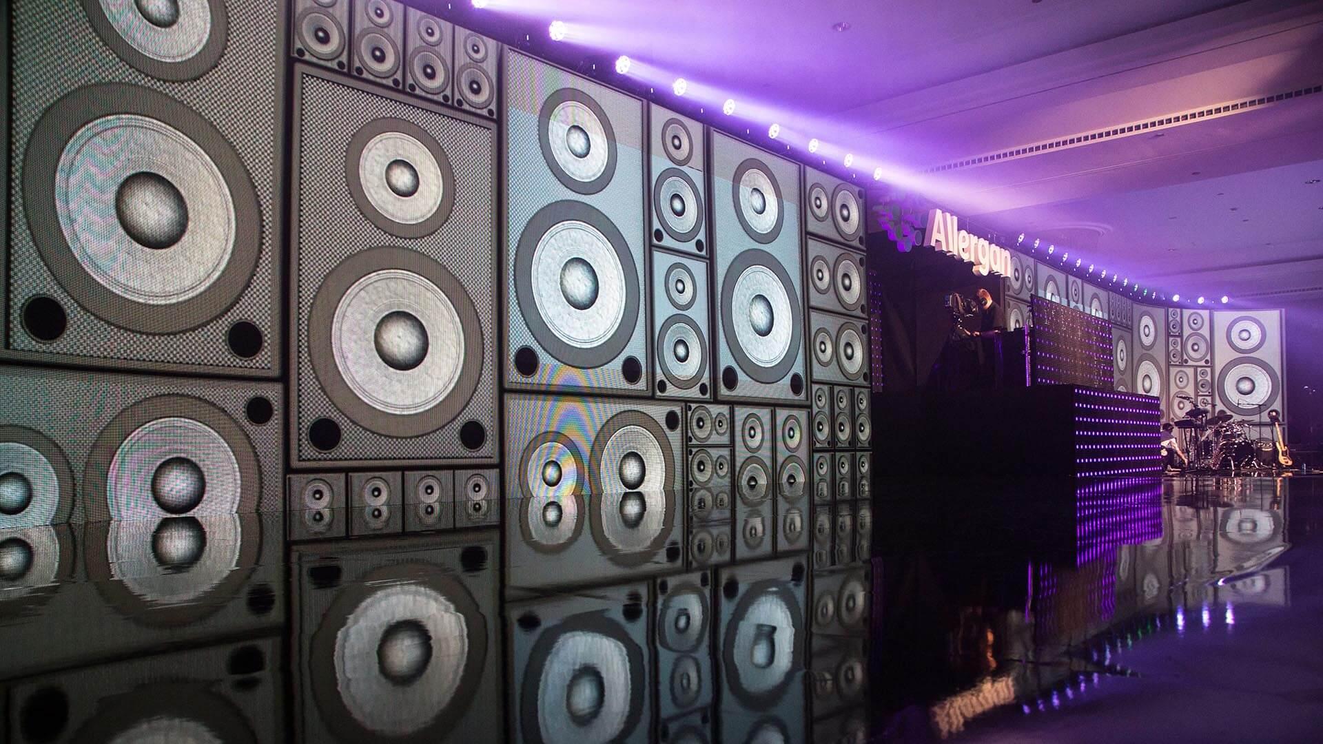 Speaker Wall Motion Graphics Allergan