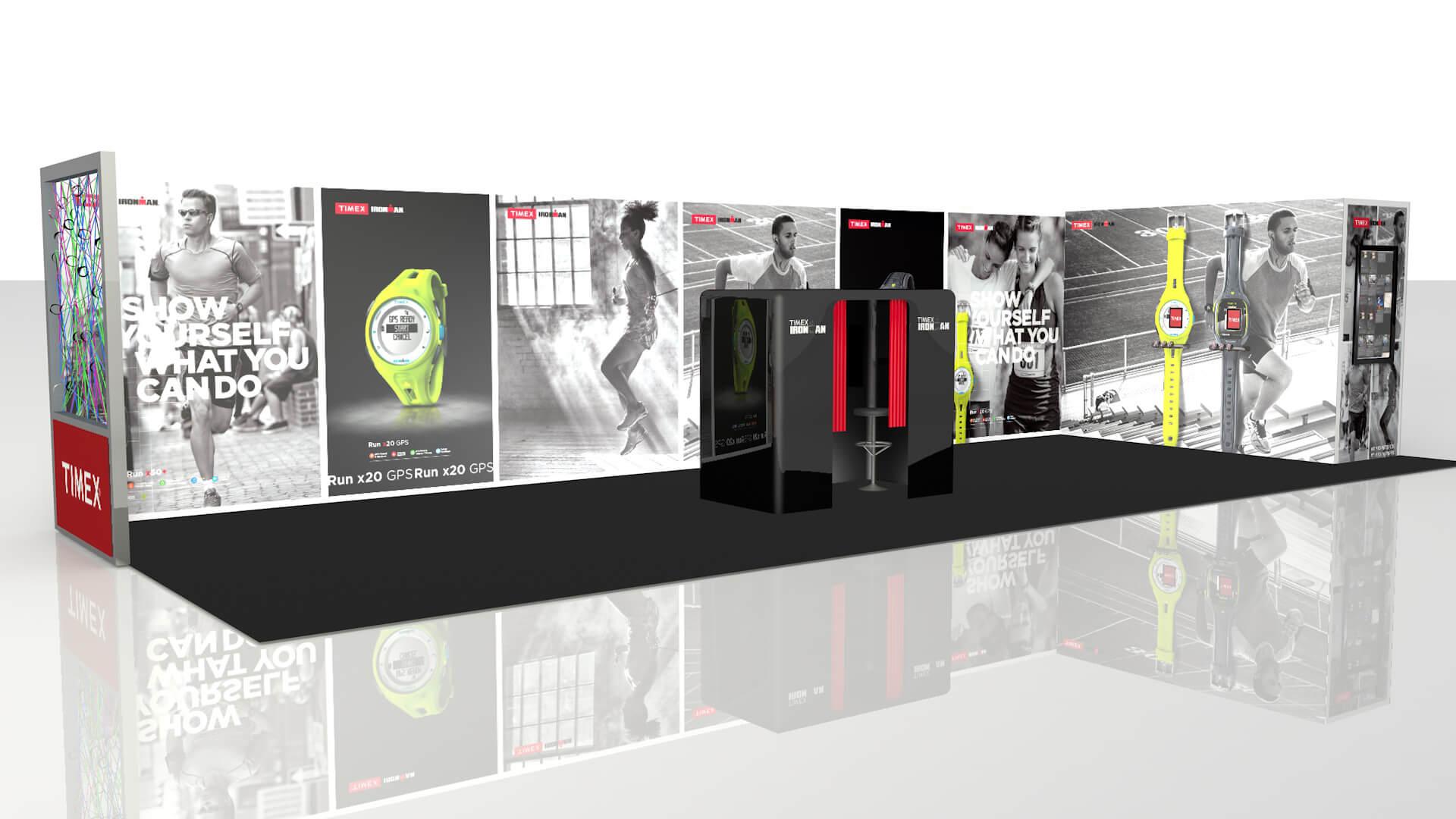 timex london marathon stand design