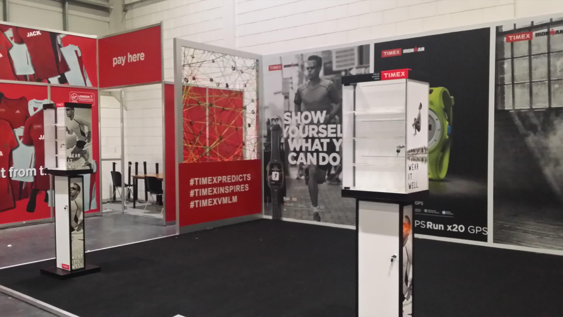 Timex in action stand design