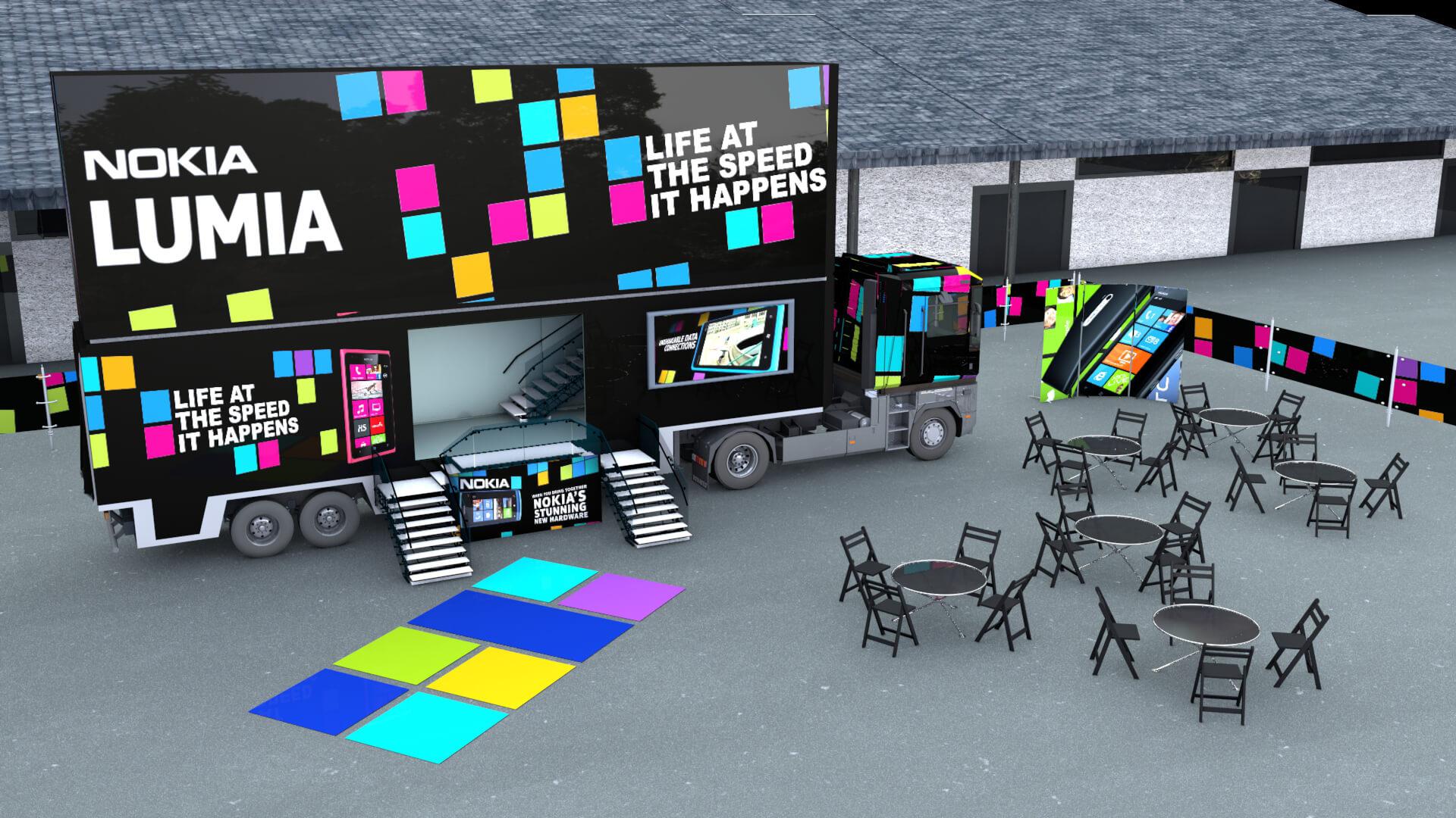 Nokia Lorry Experience Design Interactive App Development