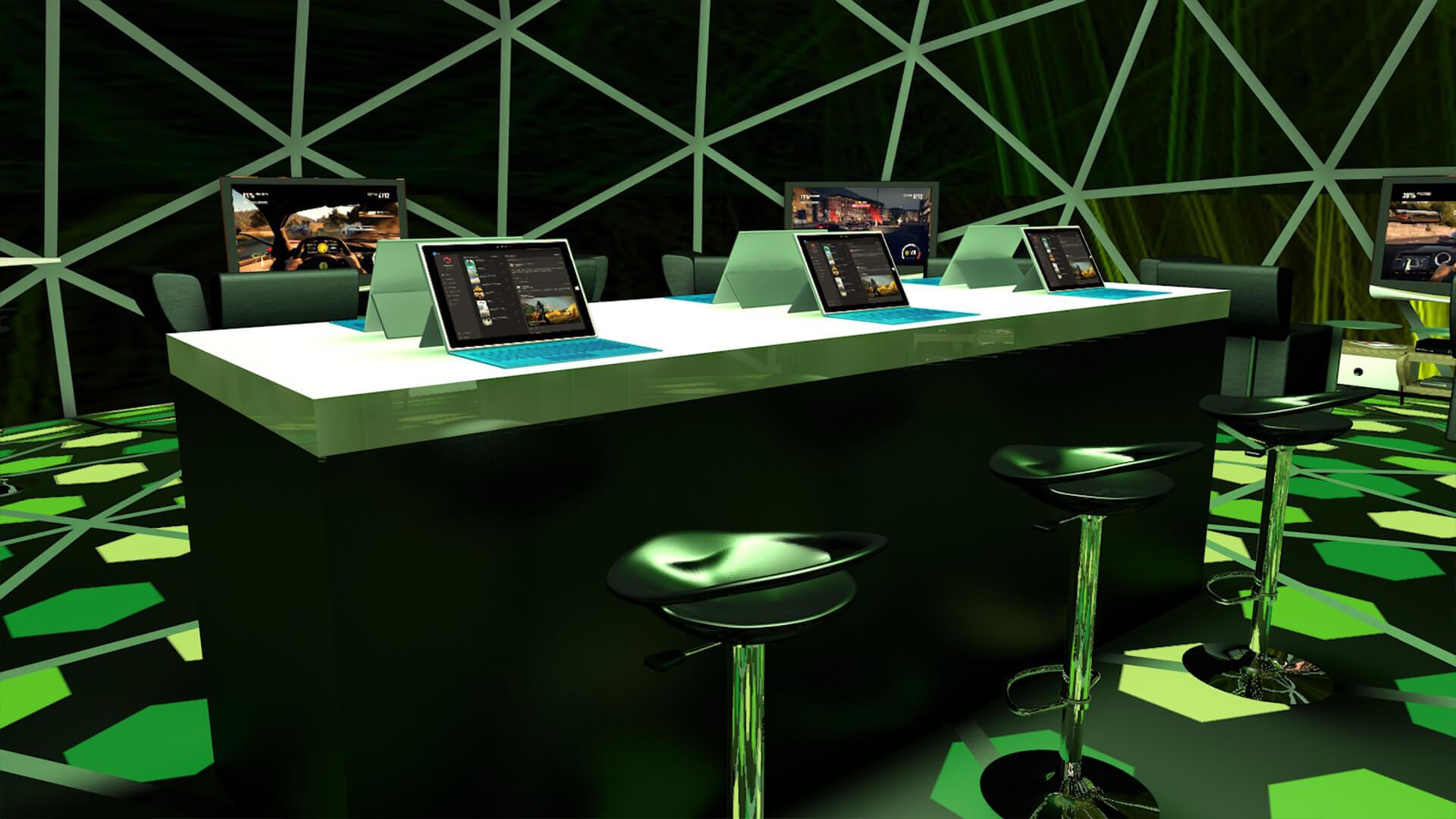 Concept Design Exhibition Stand 3D Mirosoft